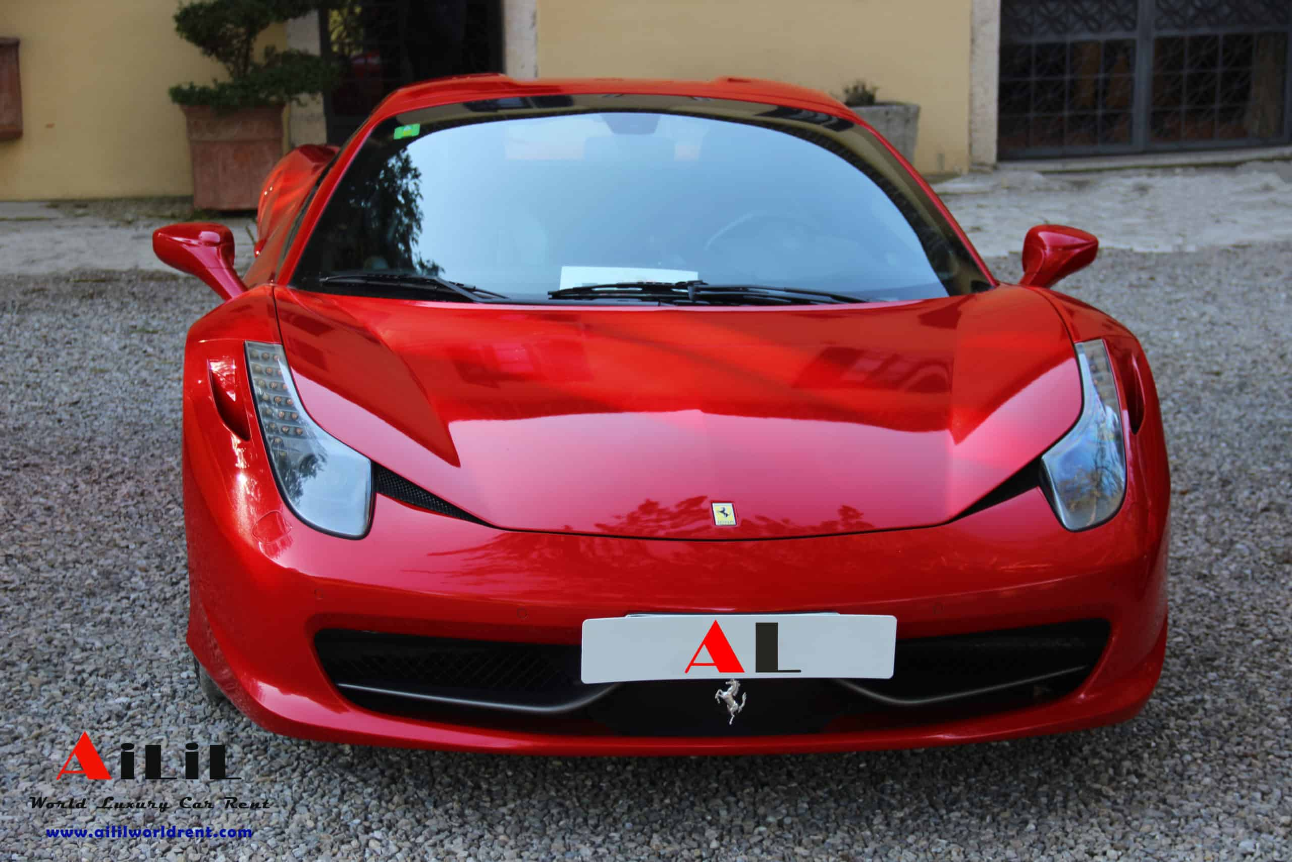rent 458 spider in menton for 2 days