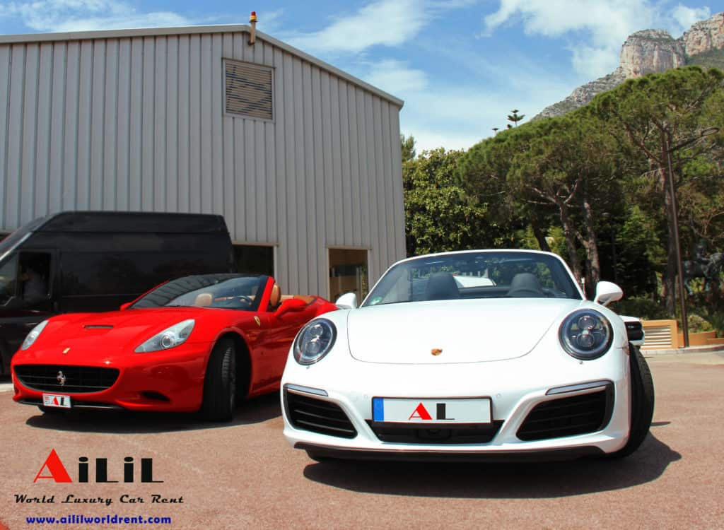 ferrari california, porsche 911 carrera, rent ferrari california in france, rent porsche 911 carrera 4s in france